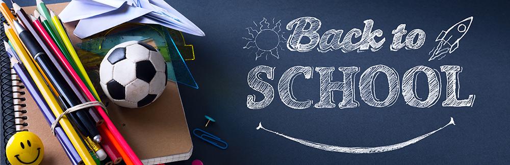Art welcome Back To School Banner; School Supplies