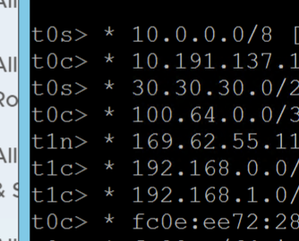 No BGP defined in route