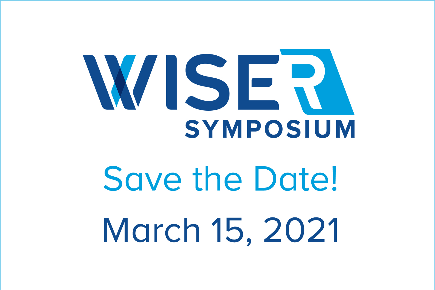 Image of WISE/R Symposium 2021