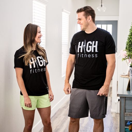 HIGH FITNESS - BLACK TEE SHIRT