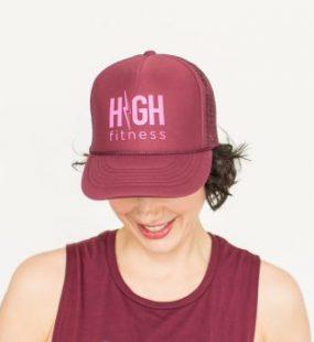 Maroon Trucker - HIGH Fitness - Hot Pink