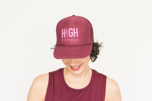 Maroon Trucker - HIGH Fitness - Hot Pink