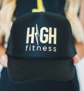 All Black Trucker - HIGH Fitness - Gold Foil