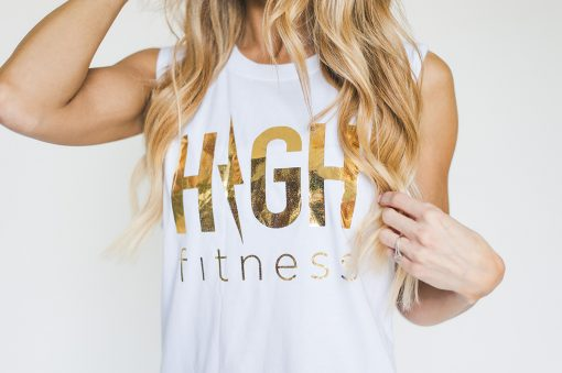 GOLD FOIL - MUSCLE TANK