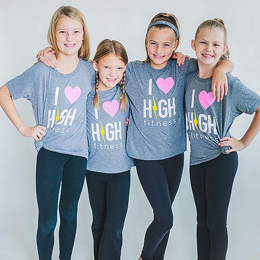 I LOVE HIGH FITNESS - Kids T-Shirt