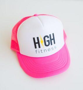 HIGH Fitness - Pink & White - Trucker Hat