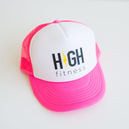 HIGH Fitness - Pink & White - Trucker Hat