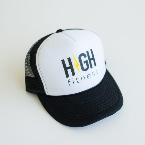 HIGH Fitness Black & White Trucker Hat