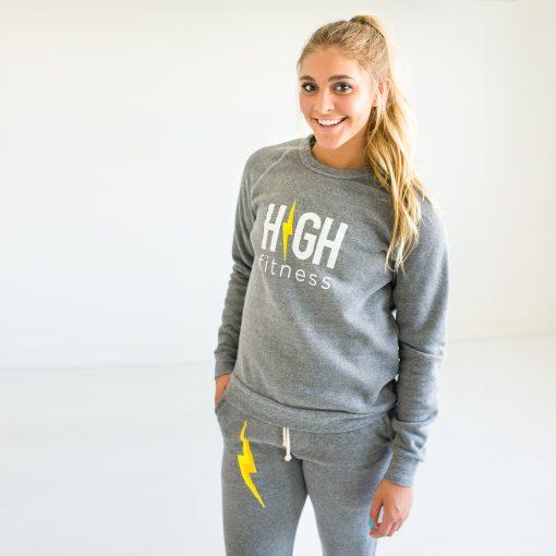 HIGH Fitness - Light Gray Sweatshirt