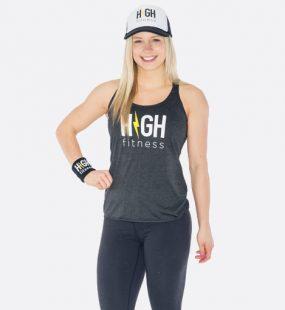 HIGH Fitness - White Logo - Vintage Black