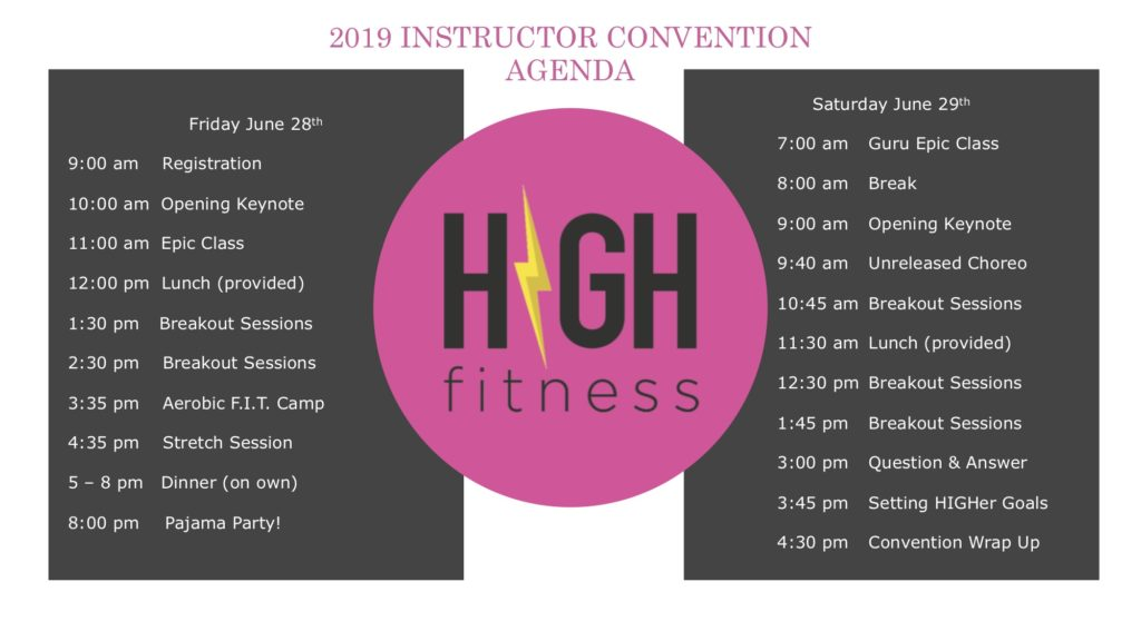 HIGH Instructor Convention Agenda is now LIVE!