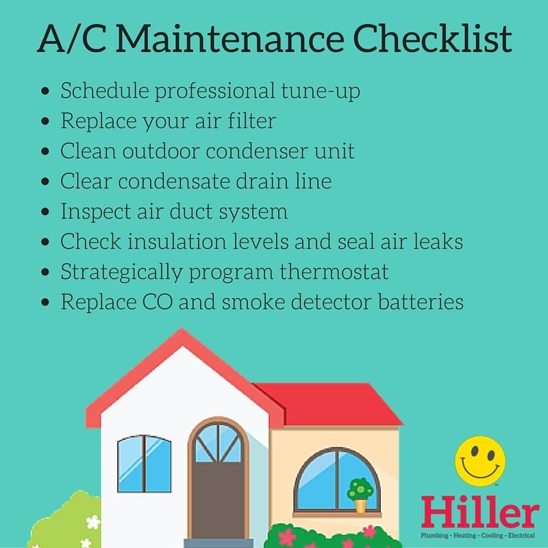 A-C Maintenance Checklist