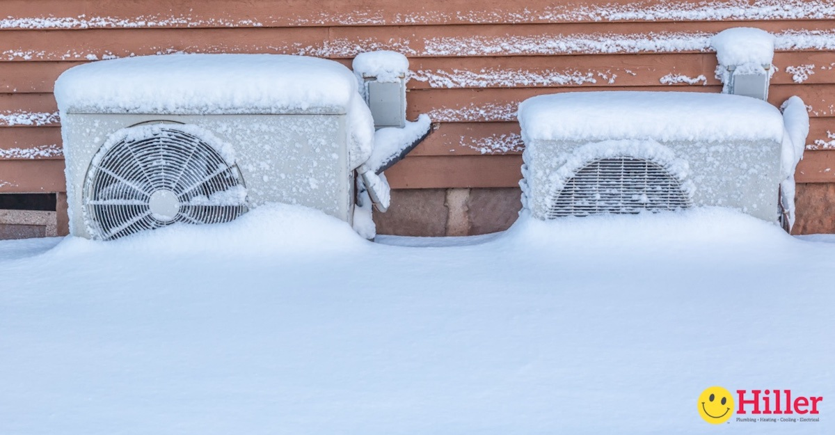 heat pump icing up - how to protect heat pump in winter