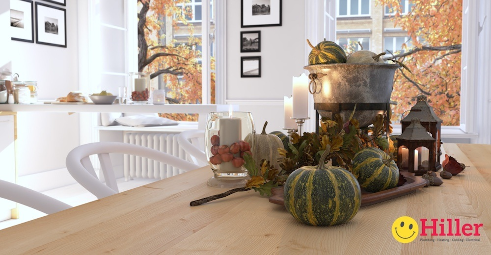 thanksgiving kitchen table - plumbing FAQ for parties and large gatherings