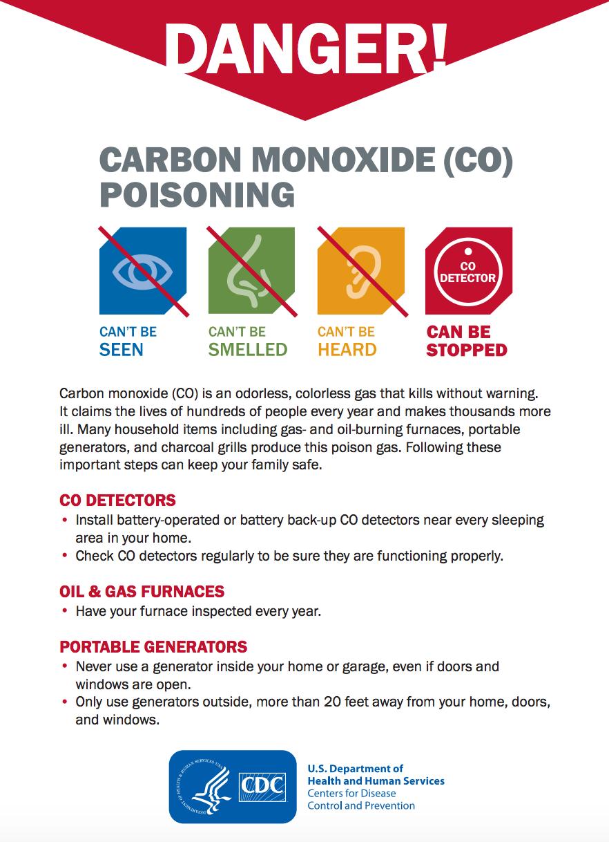 carbon monoxide poisoning fact sheet - CDC