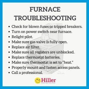 Furnace Troubleshooting Tips Instagram Hiller 300X300