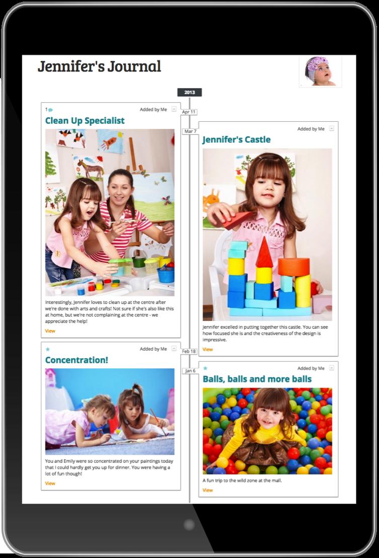 Early childhood online portfolio