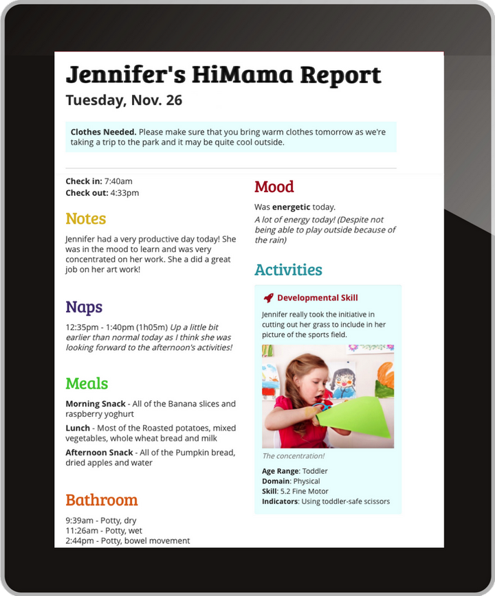 Digital Report to Parents