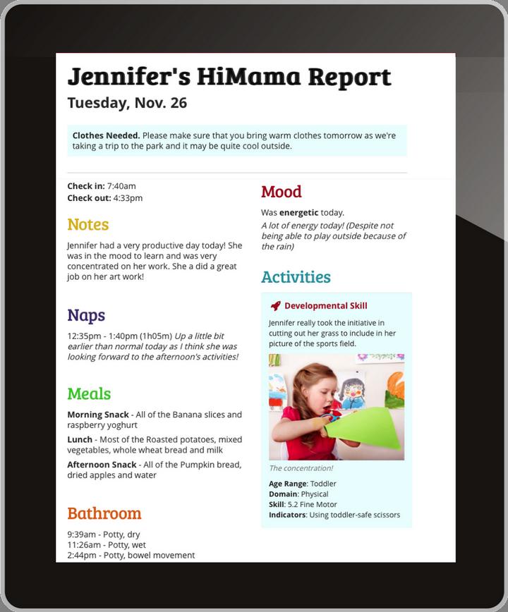 Digital Report to Parents