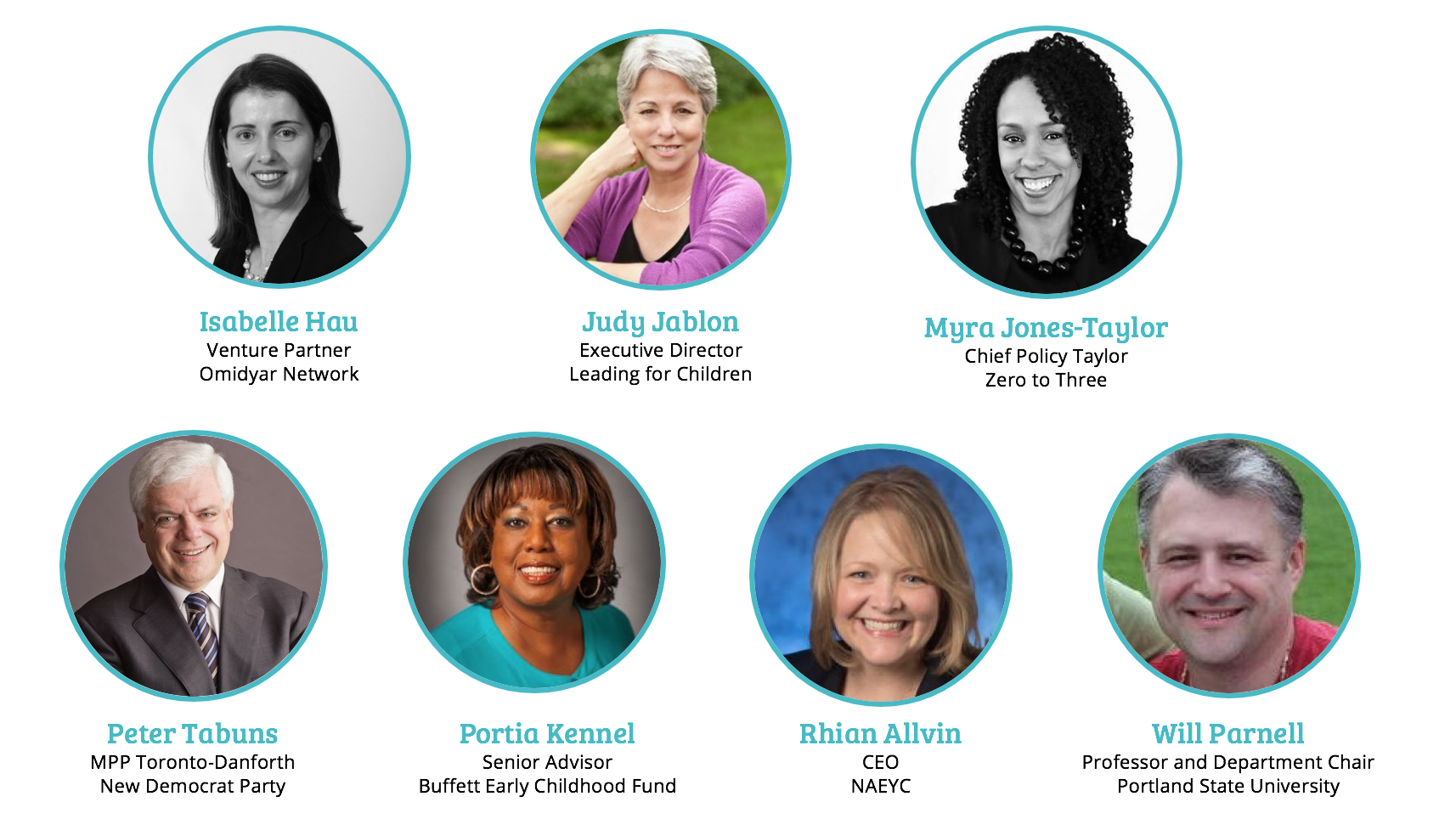 Jury Photos for the Early Childhood Of the Year Award