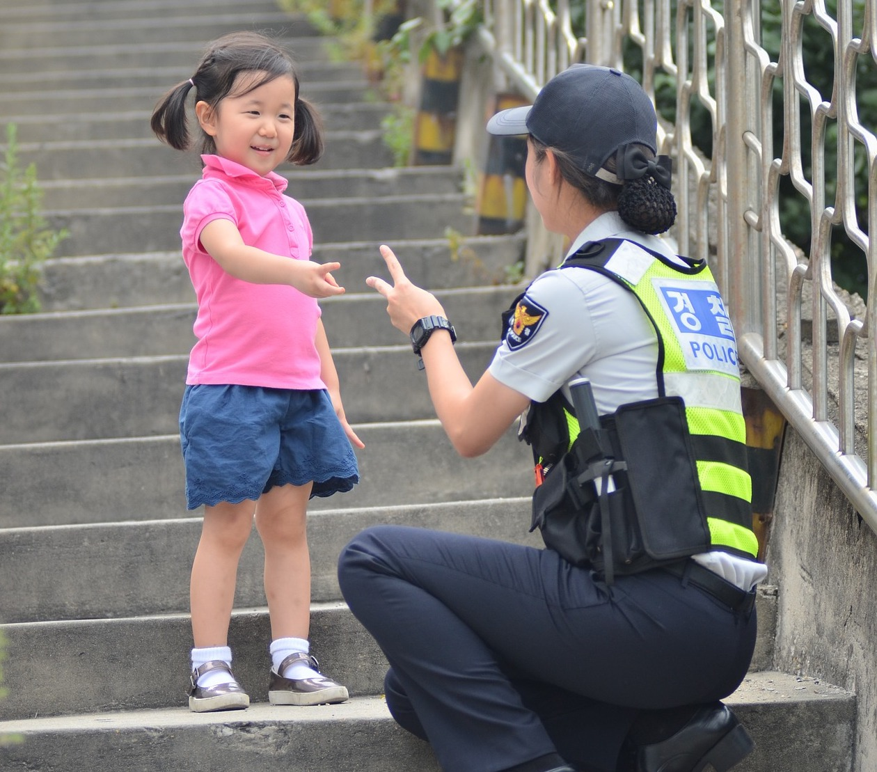 Child with Police Officer
