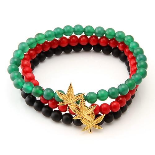 Brx11478 jungl julz .925 sterling silver rasta bracelet 1