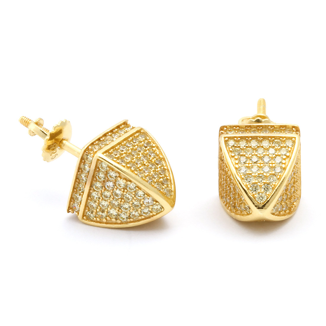 King Ice 14K Gold Dome Hip Hop Earrings King Ice powered by Hingeto