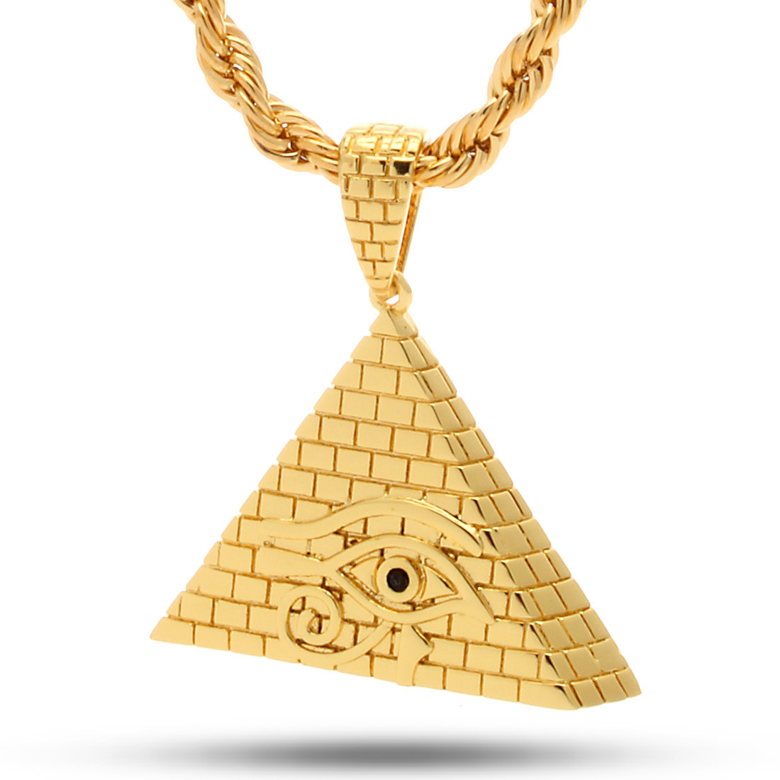 King ice gold all seeing eye pyramid necklace king ice powered img mozeypictures Gallery