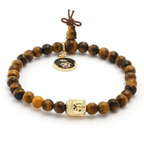 Tiger eye gold buddha bracelet brx09828 1100 2 1