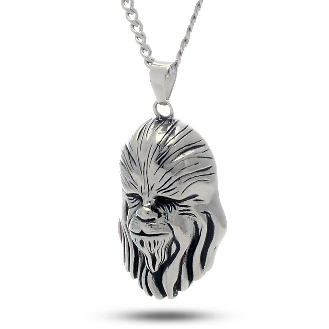 Nkx11336 stainless steel chewbacca necklace