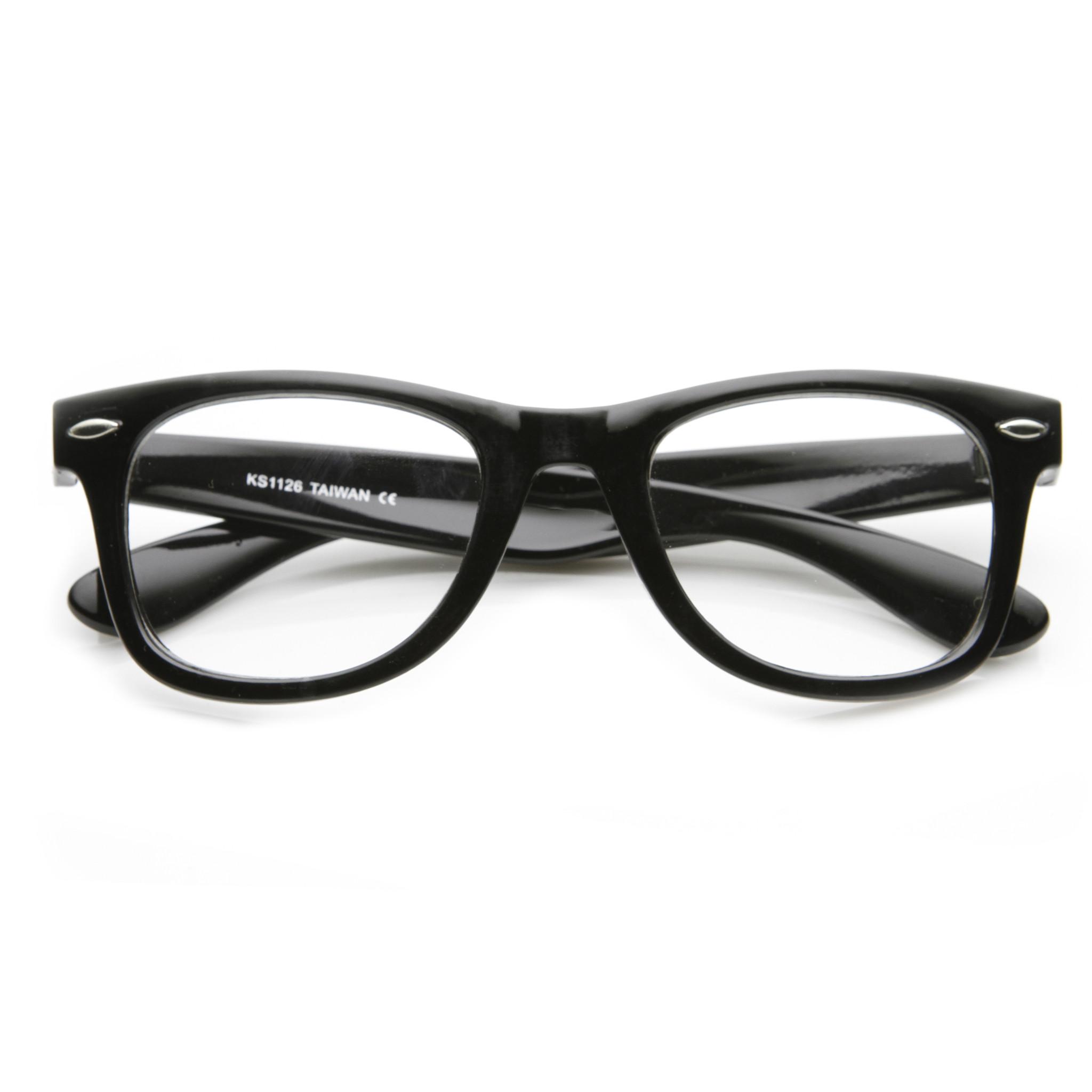 Retro Classic Horned Rim Frame RX Optical Clear Lens Glasses 8708 ...
