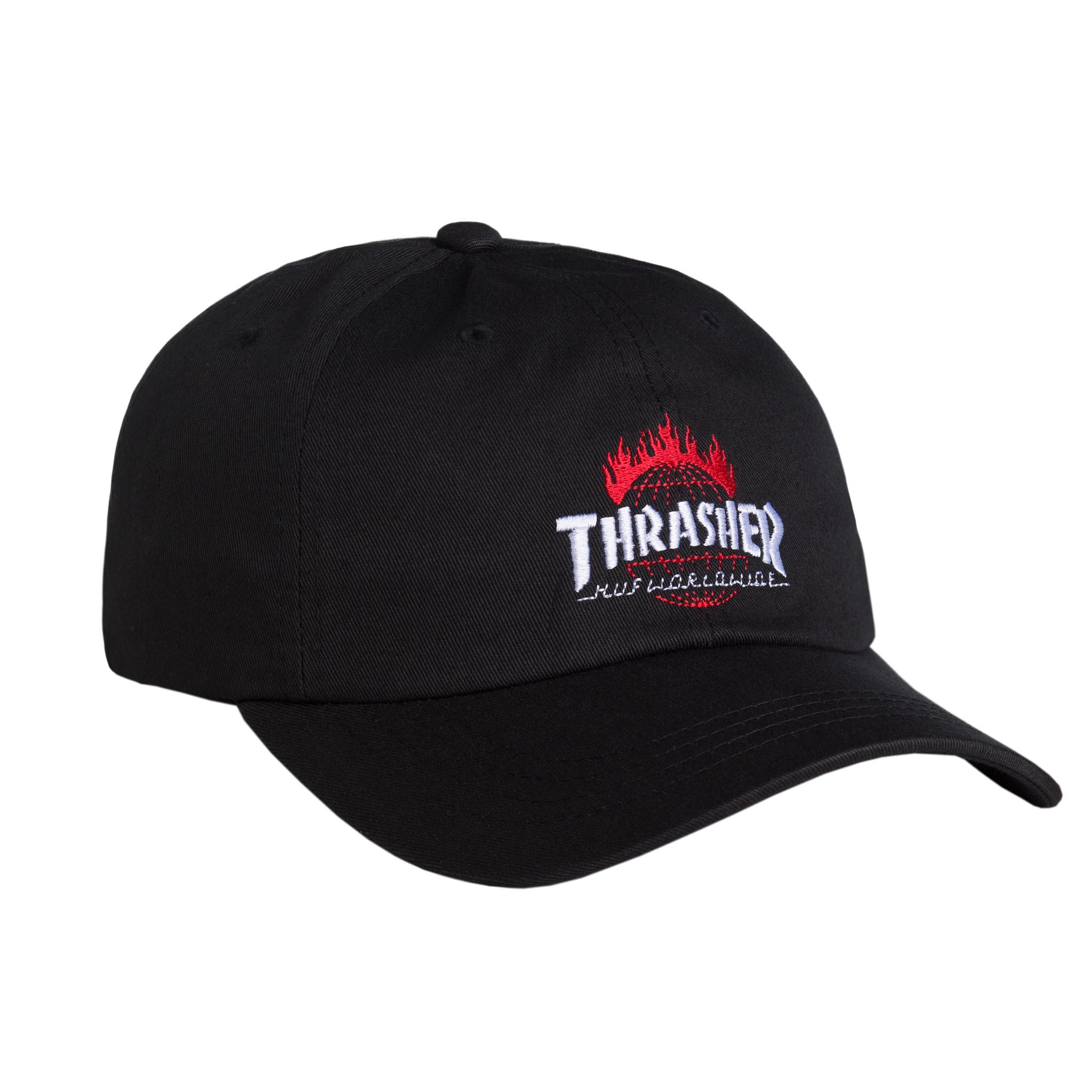 Thrasher tds curve visor 6 panel black ht65m03 black 01