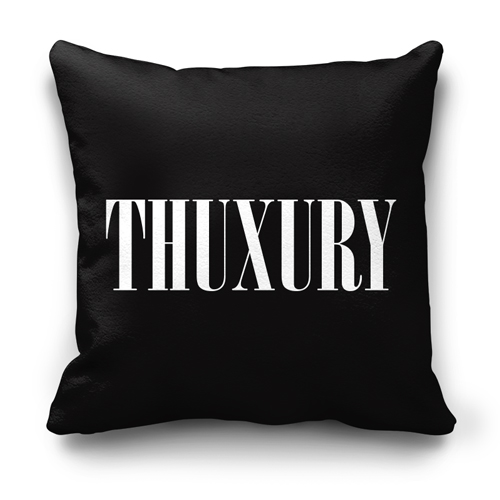 Thuxuryblackthrowpillow