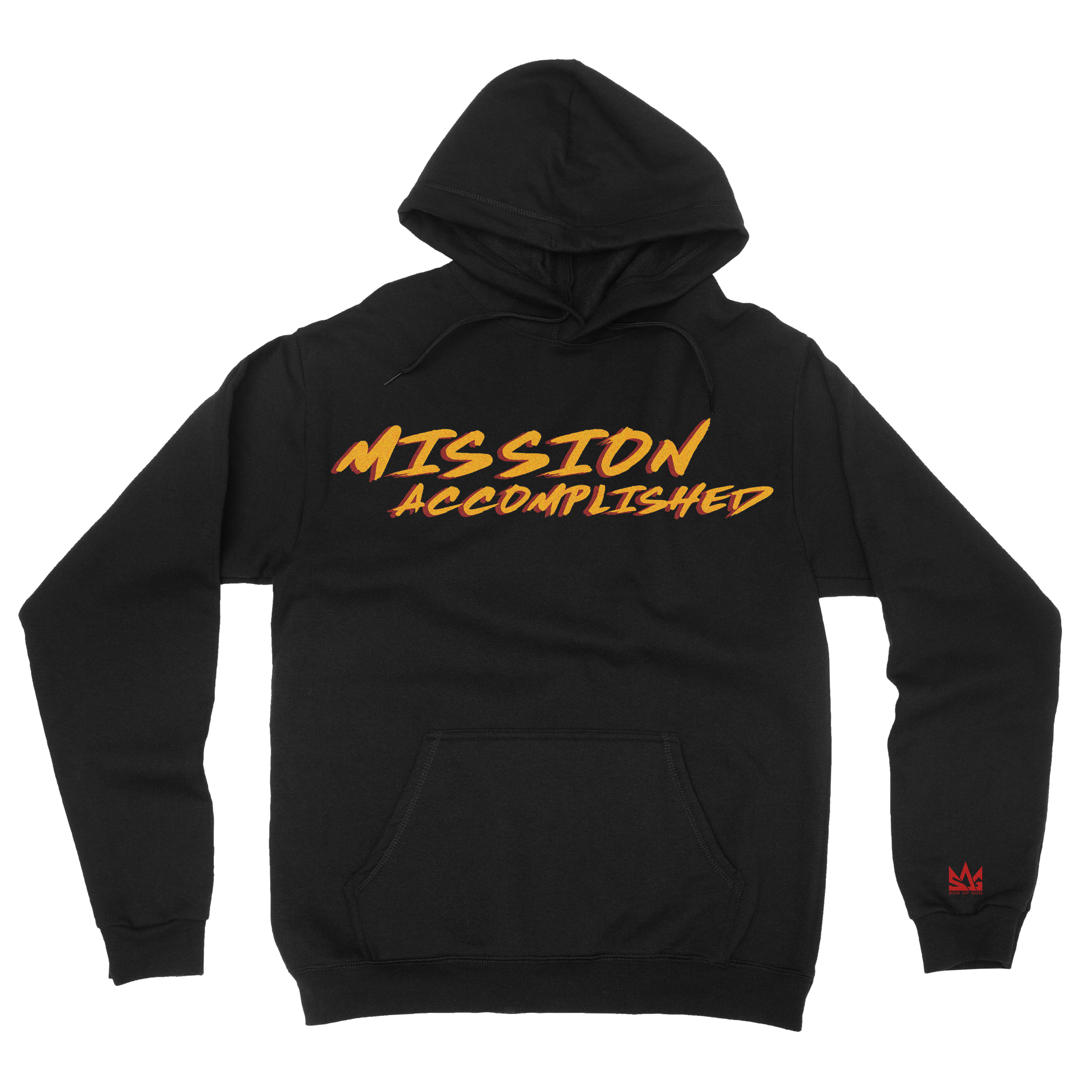 Mission accomplished hoodie front