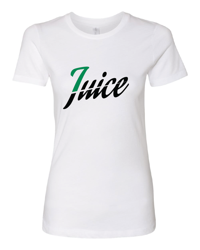 Womens juice tee white