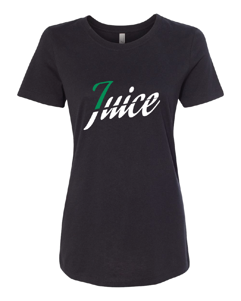 Womens juice tee black