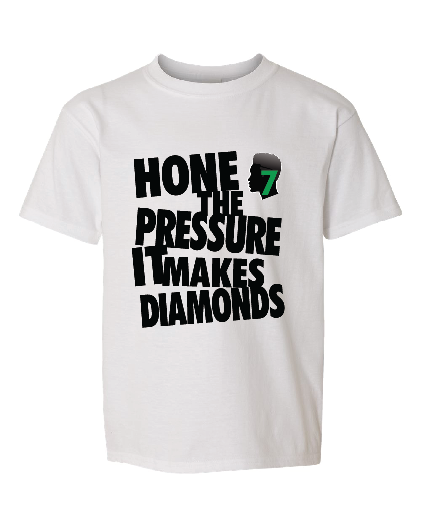 Kids hone the pressure tee white