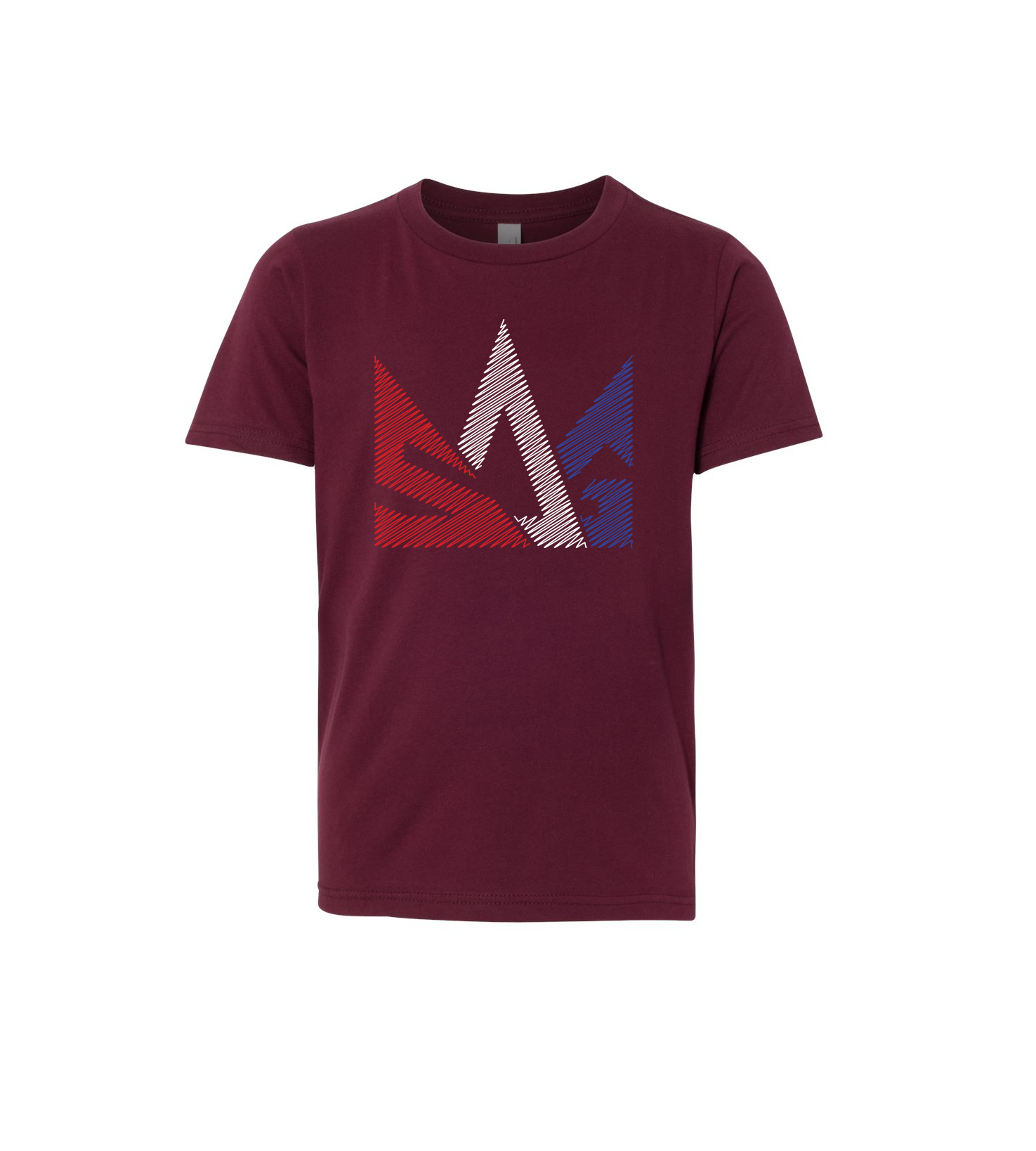 Kids tee mock up maroon
