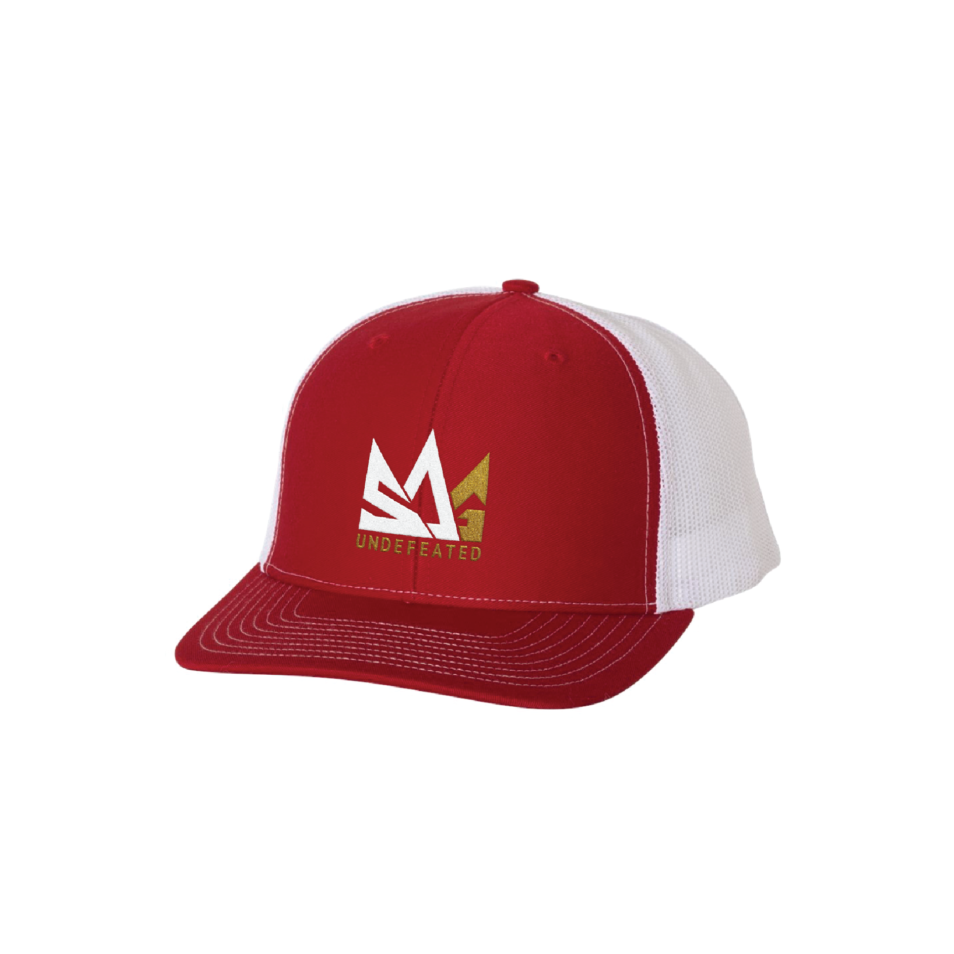 Red camo hat mock up
