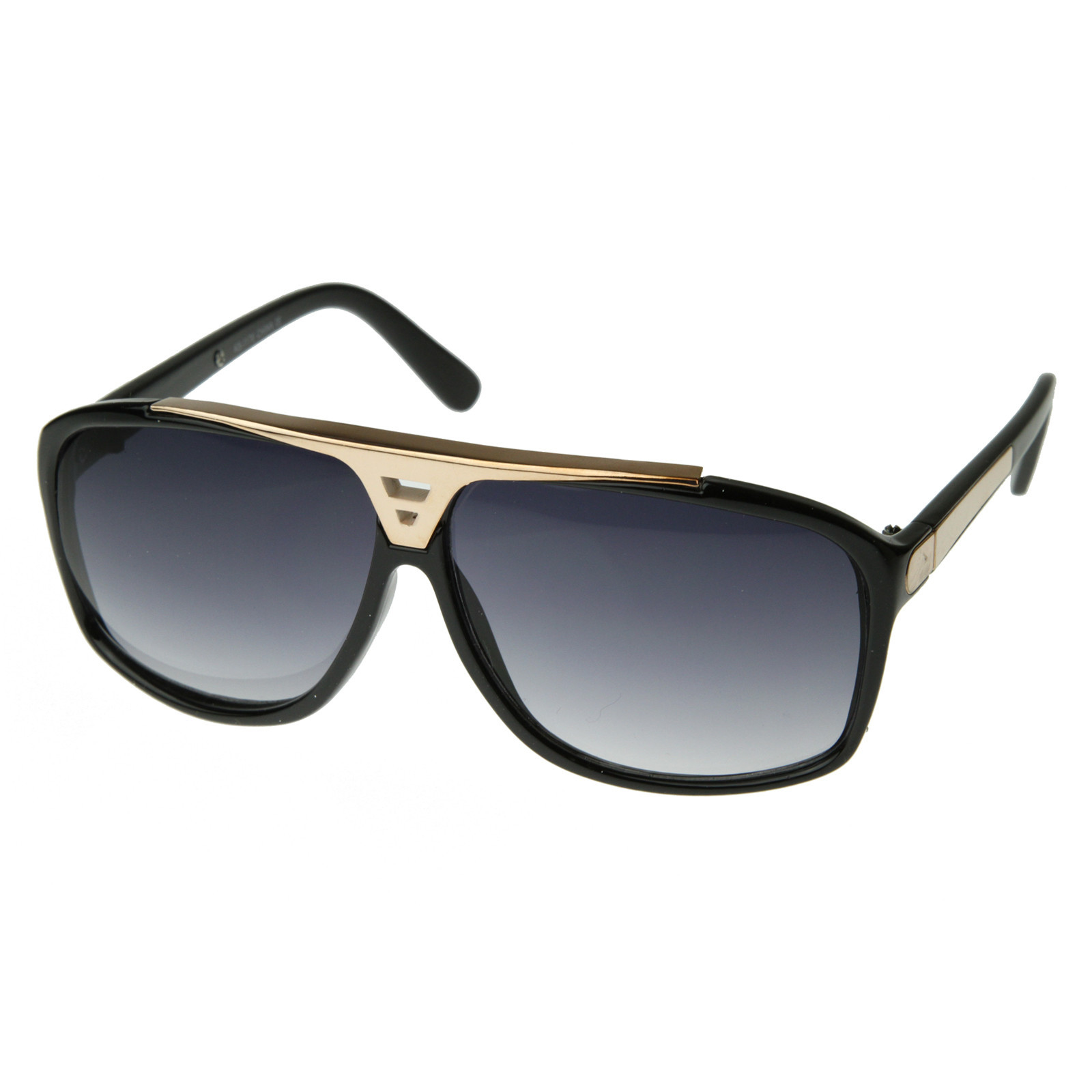 aviator sunglasses designer  Designer Inspired Fashion Square Flat Top Aviator Sunglasses 2903 ...