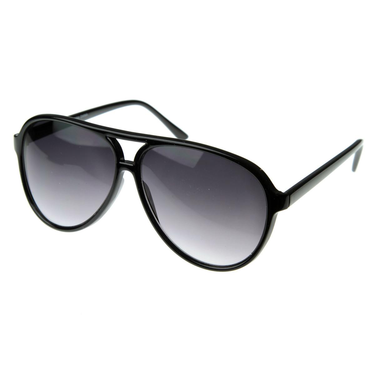 mens sunglasses aviators  Large Mens Retro 1980\u0027s Plastic Aviator Sunglasses 8249 - ZeroUV ...