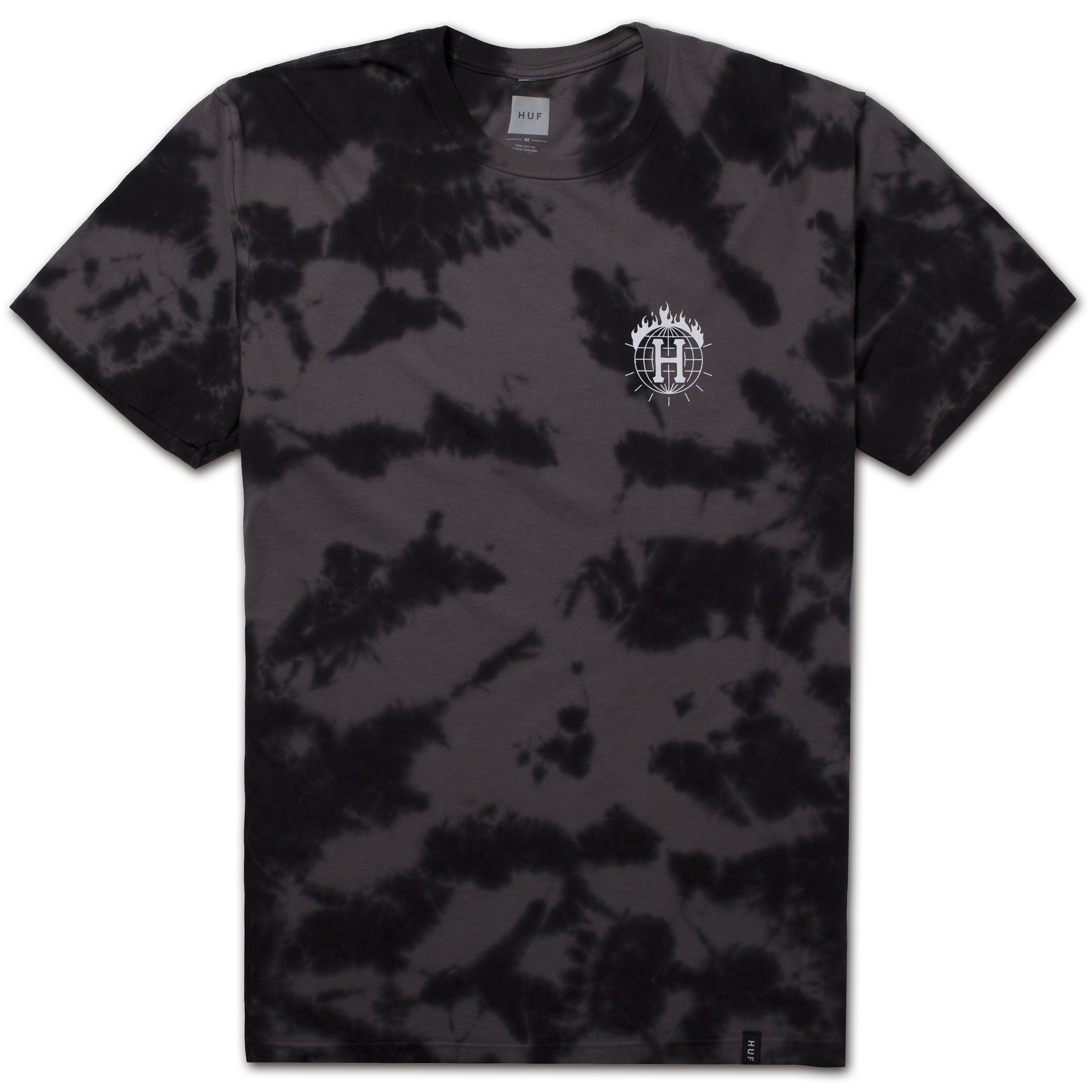 Thrasher tds crystal wash tee black ts65m04 black 01