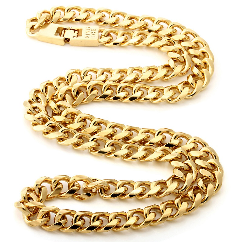 12mm 14k gold men s cuban curb chain  nkx11003 1 2