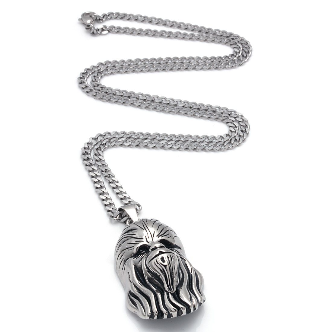 Nkx11336 2 stainless steel chewbacca necklace
