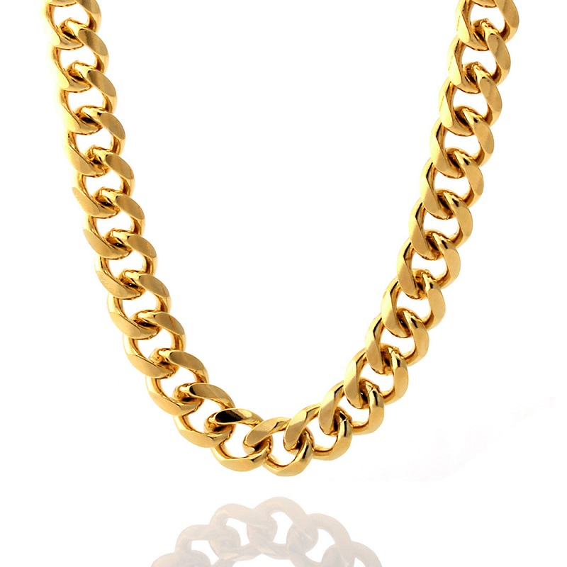 12mm 14k gold men s cuban curb chain  nkx11003 3
