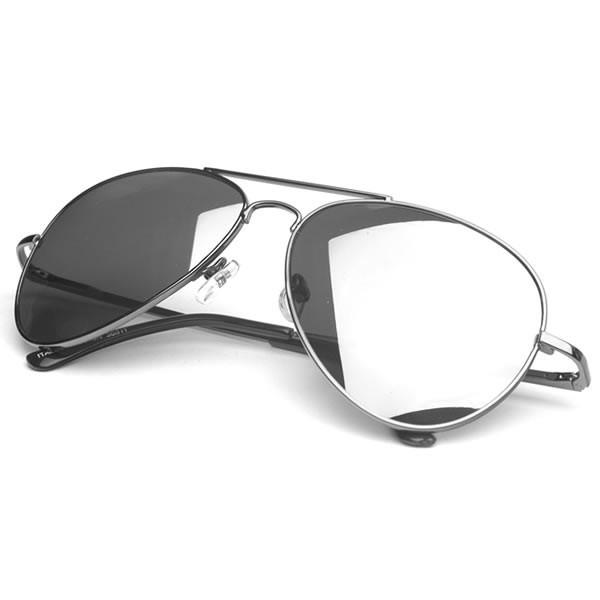 metal aviator sunglasses  Premium Military Mirrored Lens Metal Aviator Sunglasses 1375 58mm ...