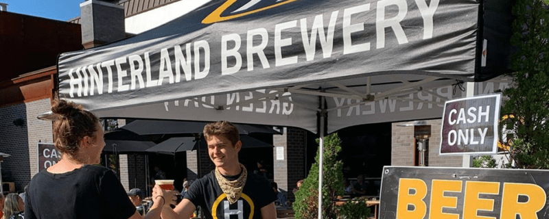 hinterland events beer tent