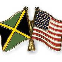 Jamaican  american flags