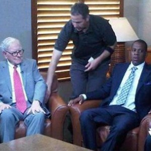Jay-Z Meets With Warren Buffett and Steve Forbes