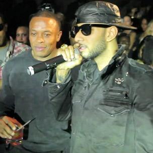 Dr. Dre & Swizz Beatz - Colony Night Club Appearance